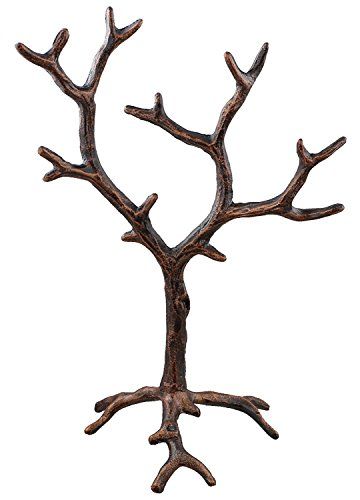 Solid Metal Jewelry Tree Display Stand / Decor Piece - Rustic Copper (Metal Tree Display)