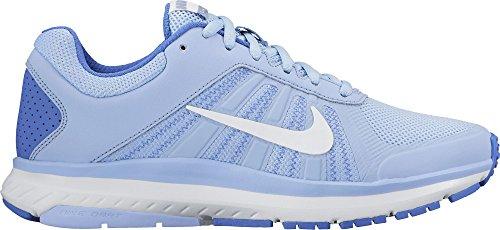 Nike Womens Dart 12 Scarpa Da Corsa In Alluminio / Bianco / Blu Medio