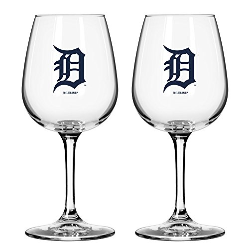 42fe64069f63 MLB Detroit Tigers Game Day Wine Glass, 12-ounce, 2-Pack - Buy ...
