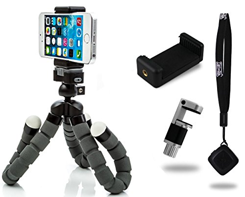 CamRah Flexible Tripod Pro Series with Bluetooth Shutter Remote and Dual Phone Mounts (Tabletop Webcam compare prices)