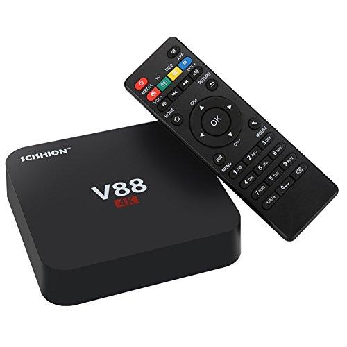 Ocamo V88 Android TV Box - RK3229 CPU, 4K, Android 5.1, KODI, WiFi, 3D Movie Support, 4 x USB, ranura para tarjeta SD con...