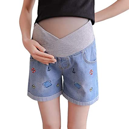 WNuanjun, Pantalones vaqueros de maternidad respetuosos con ...