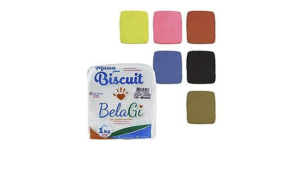 Pasta para modelar Para manualidades Sin horno Porcelana fr/ía para modelar Pack de 2 kg de color BLANCO