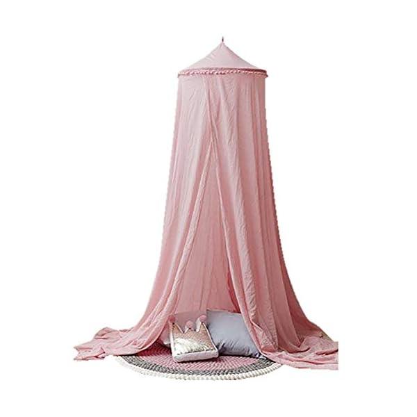 ZXYSR Baldacchino da Letto Principessa per Bambini Zanzariera Cupola Rotonda Decorazione della Camera Tenda da Gioco… 1 spesavip