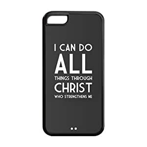 meilz aiaiTPU Case Cover for iPhone 5c Strong Protect Case Cute Jesus Christ Cross Bible Quotes Case Perfect as Christmas gift(1)meilz aiai