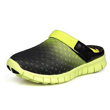 Zapatos de hombre casual zuecos de piel sintética y mulas azul / amarillo / verde / Rojo / Blanco / Naranja zapatillas Blue