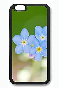 Blue Flowers Slim Soft Cover for iPhone 6 Case (4.7 inch) TPU Black Cases