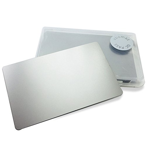 Stainless Steel Business Cards - Ebamaz Metal Business Cards Blank Tablet Thick 86X54mm Pack of 10PCS (Stainless Steel 0.5mm thickness, Original Finishing Silver (No Engrave))