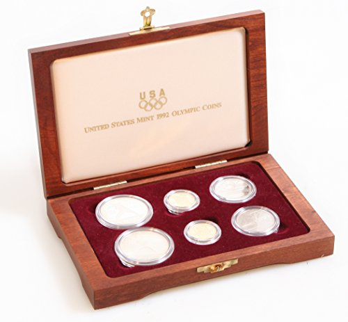 1992 US Mint Olympic Coins Commemorative Set of 6 in Box W/Papers