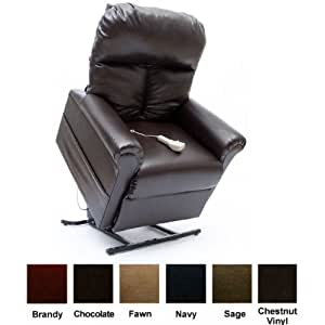 Easy Comfort Infinite Position Electric Lift Chair Recliner LC-100 (chestnut vinyl)