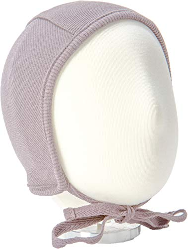 B&D Baby Bonnet: Soft Cotton Pilot Hat For Newborns, Infants, Toddlers – Ribbed Beanie With String Ties In 4 Colors – Fitted Baby Cap For Girls & Boys – Ideal For Christenings, Baby Showers, Birthdays ()