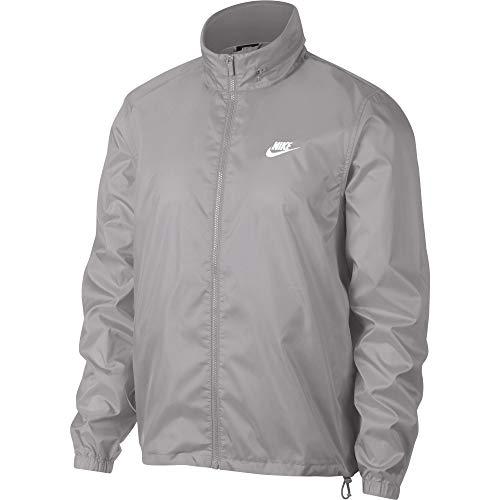 5cb14aa078467d Nike Men s Sportswear Hooded Windbreaker Jacket Atmosphere Grey White Size  Large