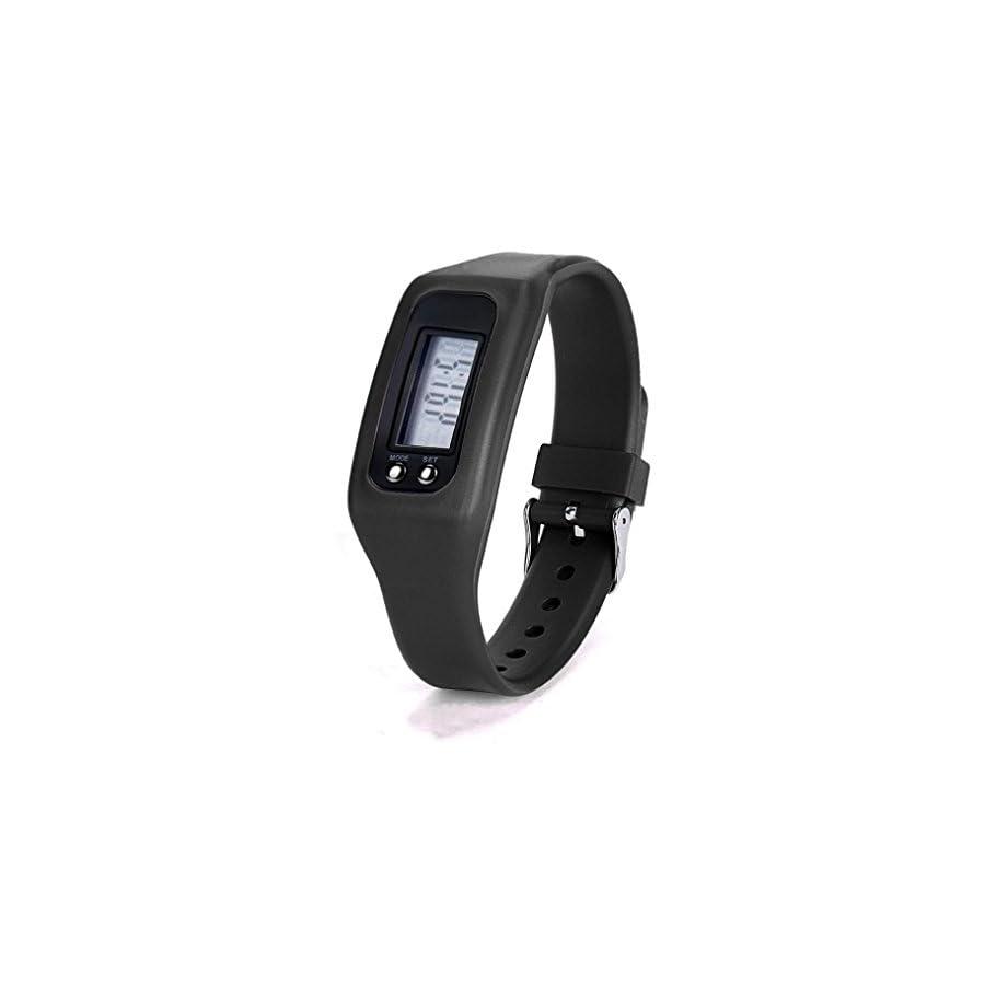 Iuhan® Fashion Digital LCD Pedometer Run Step Walking Distance Calorie Counter Watch Bracelet