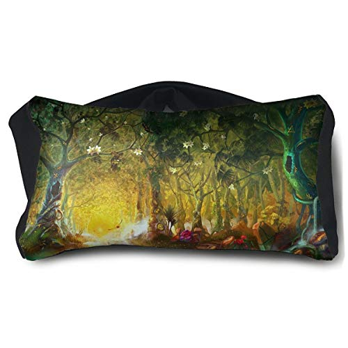 Eye Mask Eye Pillow Fantasy Green Forest Eyeshade Blindfold For Yoga Sleep Aid Stress Relief Travel Work Naps -