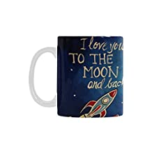 I Love You To The Moon And Back Mug for Coffee Tea Cups - Gift For Family Friend Boyfriend Girlfriend - Best Gift for Birthday,Christmas or New Year