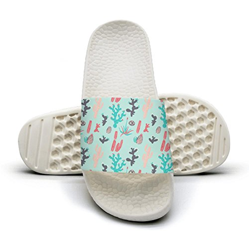 Succulent Non and Sandal Cactus Indoor Slipper for Shoes Slip Bathroom Cute qiopw Shower and cactus rtw Cute Womens qHURU4z