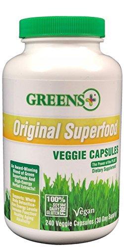 - Greens+ Vegan Superfood Veggie Capsules 240 caps