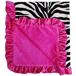 Zebra Stroller Blanket (Baby Bella Moma Stroller Blanket -Zebra Hot Pink)