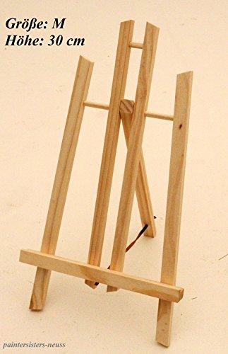 Tischstaffelei 30 cm hoch, Display-Staffelei, Deko-Ständer, Bildhalter, Sitzstaffelei