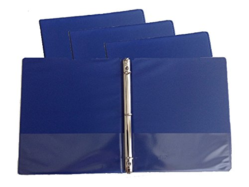(Blue Vinyl Standard 3-Ring Binders, 1/2-Inch, for 8.5
