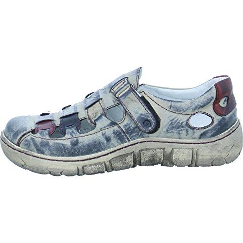 Kacper Ladies Velcro Shoes Open Grey