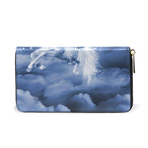 Pegasus Galaxy Handbags Clutch Organizer Zip TIZORAX Womens And Wallet Around Fairy the Purses in 5RwvvAqYI