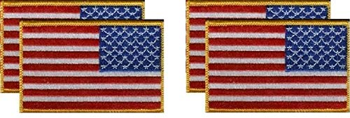 (PACK of 6 United States Right Hand Flag Patches 3.50