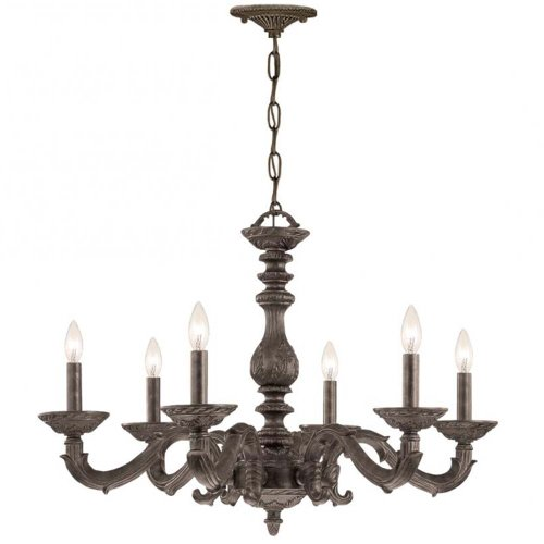 Crystorama 5126-VB Traditional Six Light Chandeliers from Sutton collection in Bronze/Darkfinish,