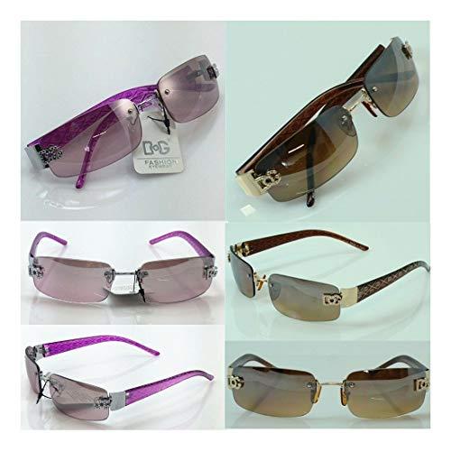 Wholesale lot Women's DG Eyewear Rimless Small Tint Shades Designer Sunglasses