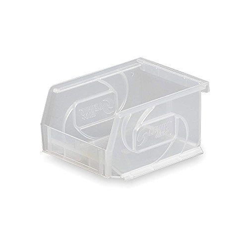 Hang and Stack Bin, Clear, 5-3x2f;8