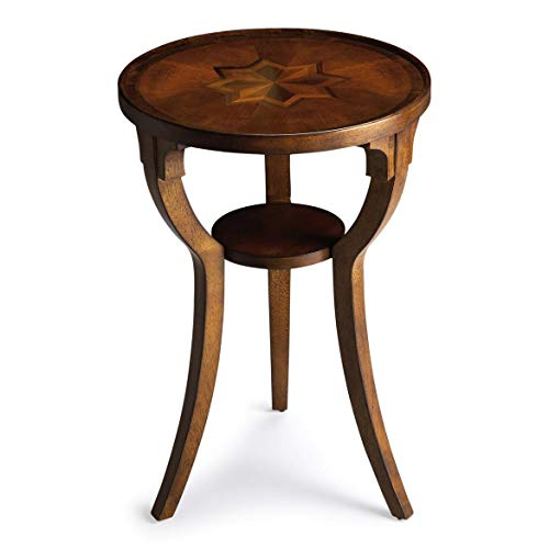 Butler Olive Ash Burl Medium Brown Round Wood Solids, Wood Products, Wood Veneers Dalton Olive ASH BURL Round Accent Table (Desk Burl Ash)