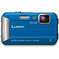 Panasonic Waterproof, Shockproof, Freezeproof, Dustproof Lumix FT30 Underwater Digital Point and Shoot Tough Camera, Blue (DMC-FT30GN-A)