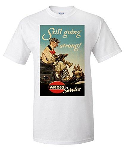amoco-still-going-strong-vintage-poster-artist-leyendecker-joseph-c-c-1945-white-t-shirt-small