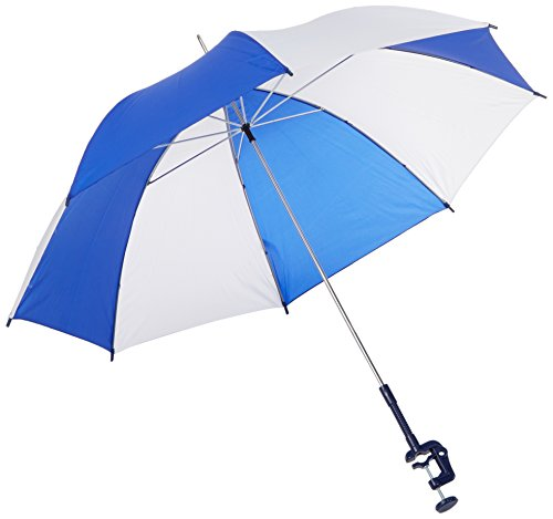 Sammons Preston Wheelchair Umbrella, Attachable Wheelchair Accessories, Rain & Sun Protector Cover for Wheelchair Use, Parasol with Adjustable Clamp for Elderly, Disabled, Handicapped