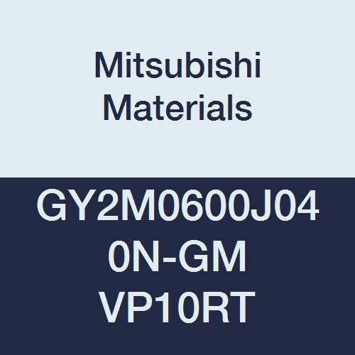 Mitsubishi Materials GY2M0600J040N-GM VP10RT GY Carbide Grooving Insert for Medium Feeds Pack of 10 Neutral Hand Coated Sintered Peripheral 0.016 Corner Radius 0.236 Grooving Width J Seat