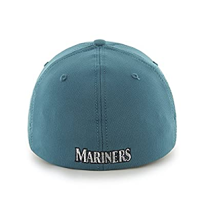 MLB Seattle Mariners Game Time Closer Stretch Fit Hat, One Size, Dark Teal