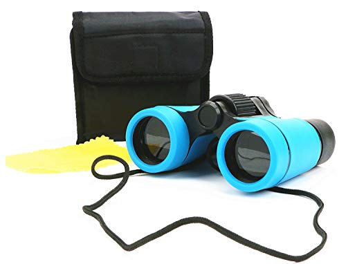 Scotamalone Kid Binoculars Shock Proof Toy Binoculars Set - Bird Watching - Educational Learning - Hunting - Hiking - Birthday Presents -Gifts for Children (color2) -
