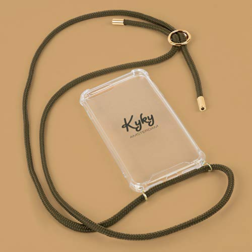 Kyky Amsterdam Kate Moss Green - Mobile Phone Chain for iPhone 7/8, Stunning Silver