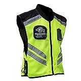 BORLENI Chaleco Reflectante de Alta Visibilidad Chaleco de Cicilismo Accesorio para Motociclista de Deportes a Prueba de Viento