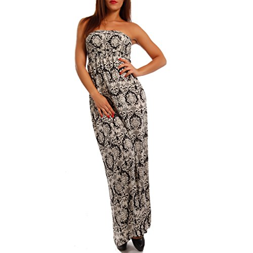 Young-Fashion - Vestido - Con cortes - Paisley - Sin mangas - para mujer leopardo