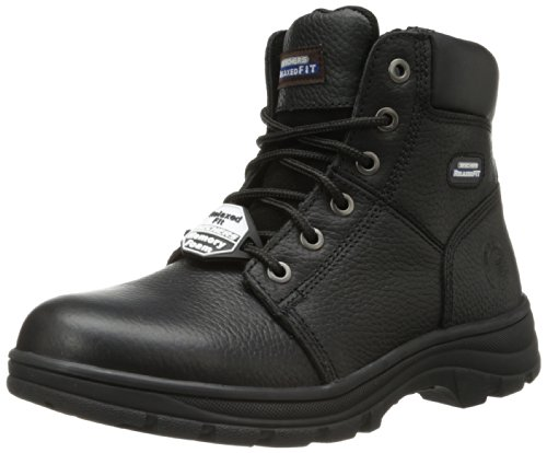 Skechers for Work Men's Workshire Condor Work Boot,Black,13 M US Blk Soft Toe Boot