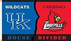 Brand New Kentucky - Louisville 3 Ft. X 5 Ft. Flag W/Grommets - Rivalry House Divided
