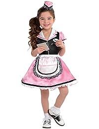 Little Girls Dinah Girl 50's Sock Hop Waitress Costume