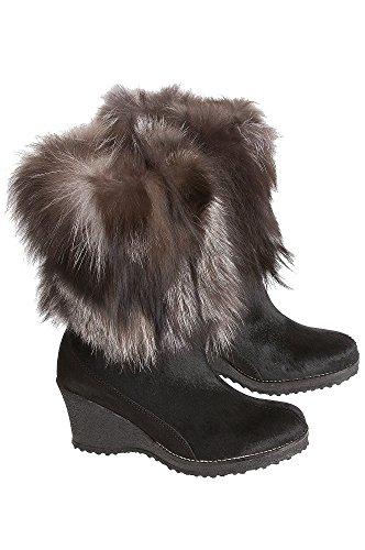 Lined Fur Co Wool Angelina Calfskin Fox Overland Boots With Trim Sheepskin Womens nBv7qgwxX6