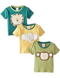 Baby Boys' Safari Friends Tiny Tee's Set Of Three T-Shirts
