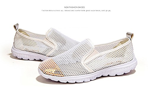 Weideng Womens Summer Shoes Mesh Slip on Lightweight Athletic Quick Drying Water Shoes White dxWQdIr