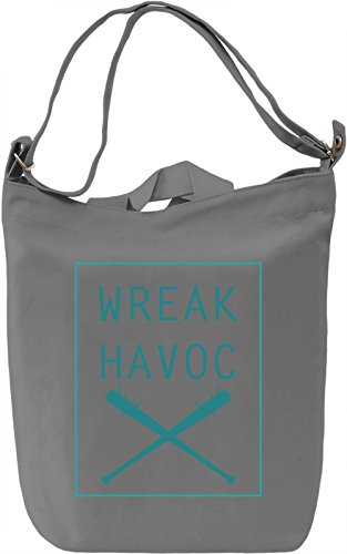 Wreak havoc Borsa Giornaliera Canvas Canvas Day Bag| 100% Premium Cotton Canvas| DTG Printing|
