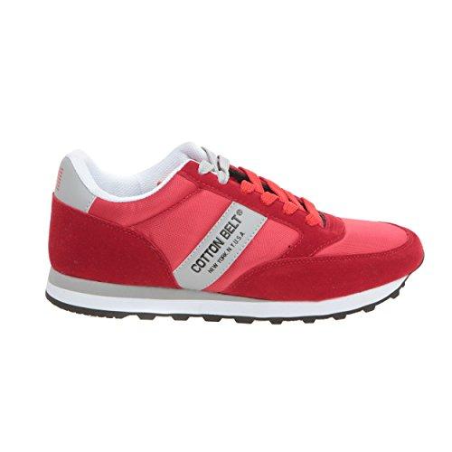 Uomo Sneakers da Belt Cotton Rosso Grigio w8xtqqp