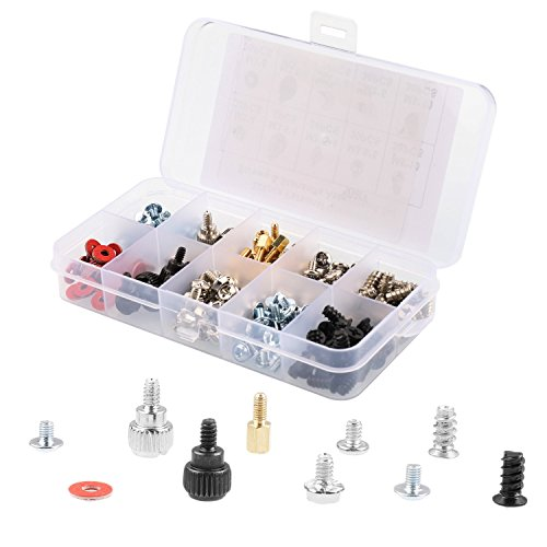 228pcs Personal Computer Screws & Standoffs Set Assortment Kit Computer PC Spacer Screws Assortment Kit for Motherboard Hard Drive Computer Case Fan Power Graphics