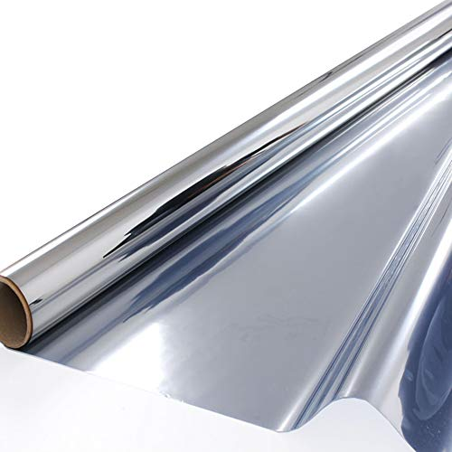 ZEALOTT Heat Rejection Window Glass Tinting Film for Residential and Commercial Uses, Sun Blocker, Solar Guard, 23.6-inch by 6.5-Feet (60cm x 2m), Silver  by ZEALOTT